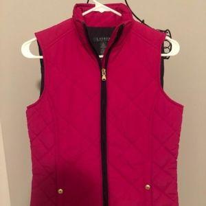 Preppy Navy and Pink Ralph Lauren Vest with Gold